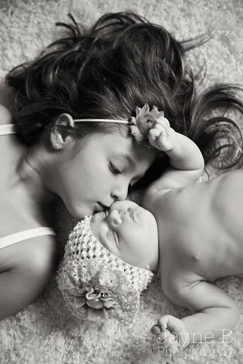 Sisters. Newborn baby girl. Siblings Jayne B Photography Atlanta, Ga