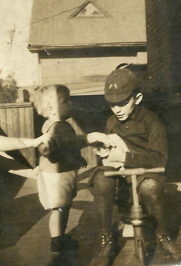 Walter (James) Joseph Francis Marks (sitting on bike) Son of Alma Marks