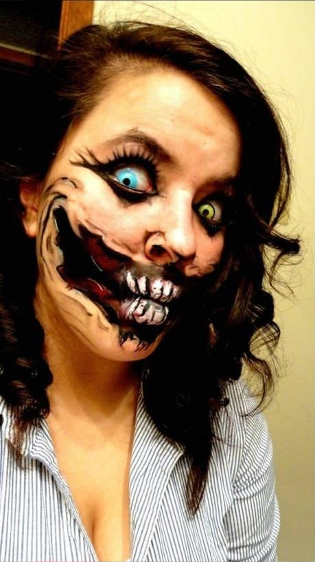 scary makeup for halloween halloween costumes 2013 halloween makeup - Scary Faces For Halloween With Makeup