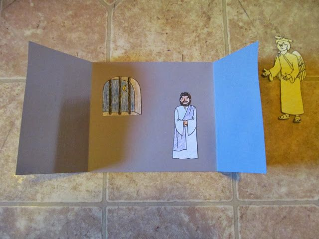 Supplies: Illustrations: Jail, Peter, angel When Jesus went to heaven to be with God, He told His disciples that He would be with them al...