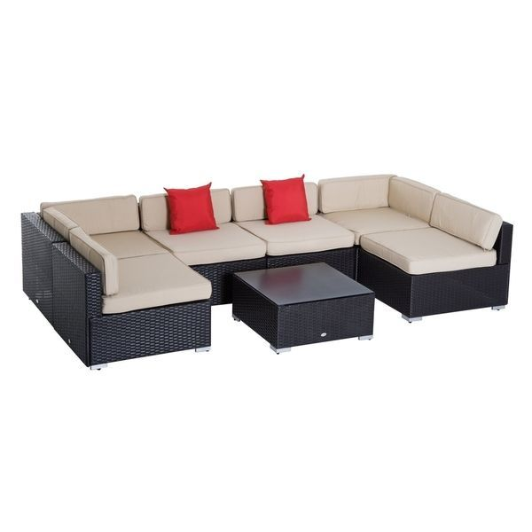 Best Outsunny 7 Piece Wicker Sofa Set Outdoor Patio 400 x 300