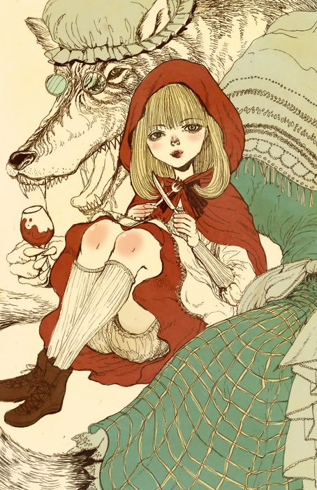 Red riding hood by MJ Hur, via Behance