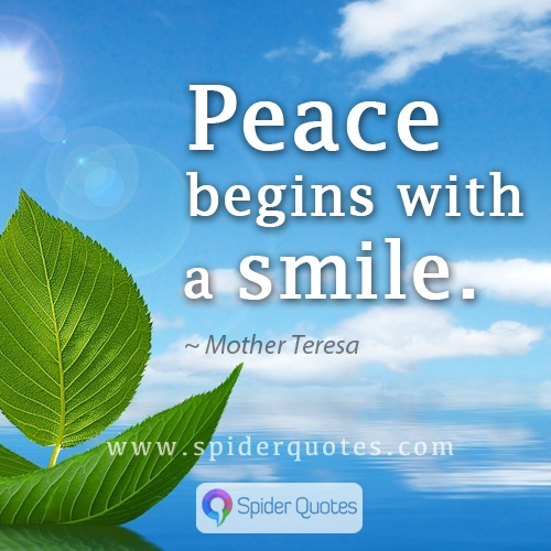 Smile Quotes, Peace Quotes, Mother Teresa Quote