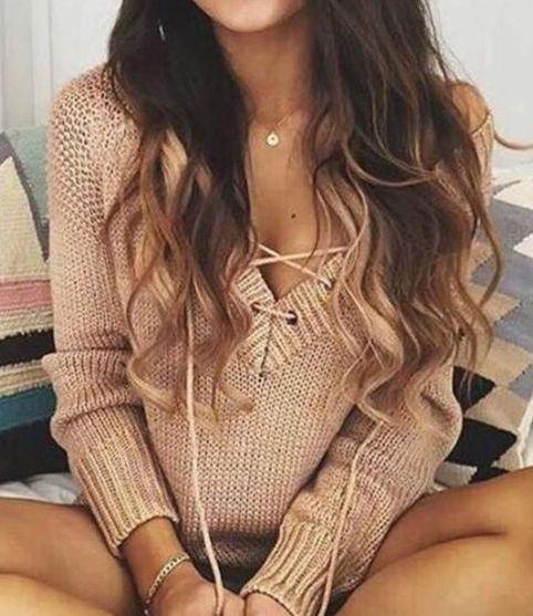 #fall #fashion / nude knit