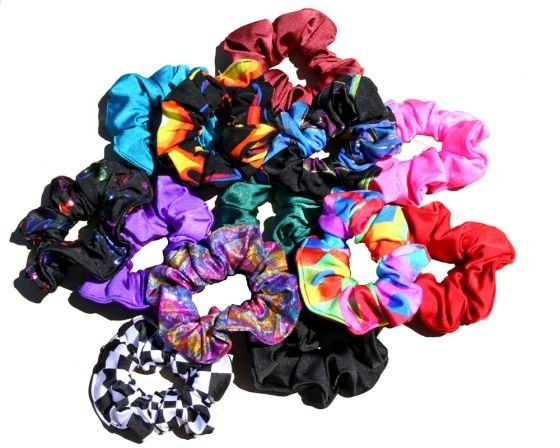 For some of us, one scrunchie just wasn't enough. They also looked great when worn as an impromptu bracelet.