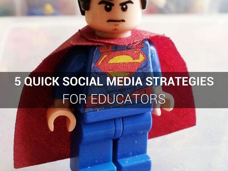 5 Quick Social media Strategies for Educators, a Haiku Deck by Paul Gordon Brown