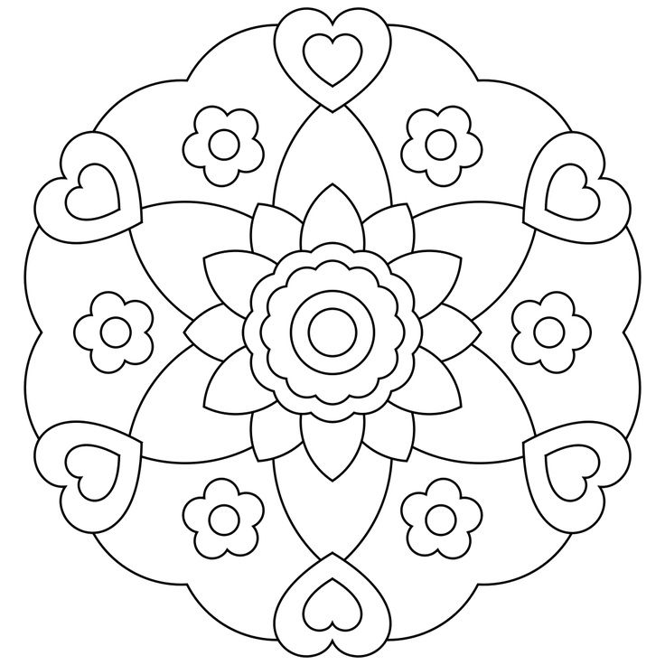 mandala coloring pages for kids coloring pages - Print For Kids