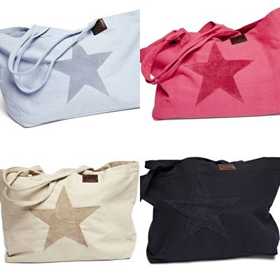 Beachbags - The Summer can come! Florence Design canvas beachbags with suede leather patch! <3