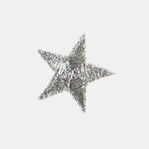 Patch silver star 2,6 x 2,6 cm
