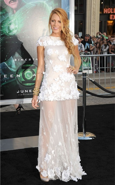 Chanel (blake could make a trash bag look gorg, but still, the dress is ridiculously gorg.)