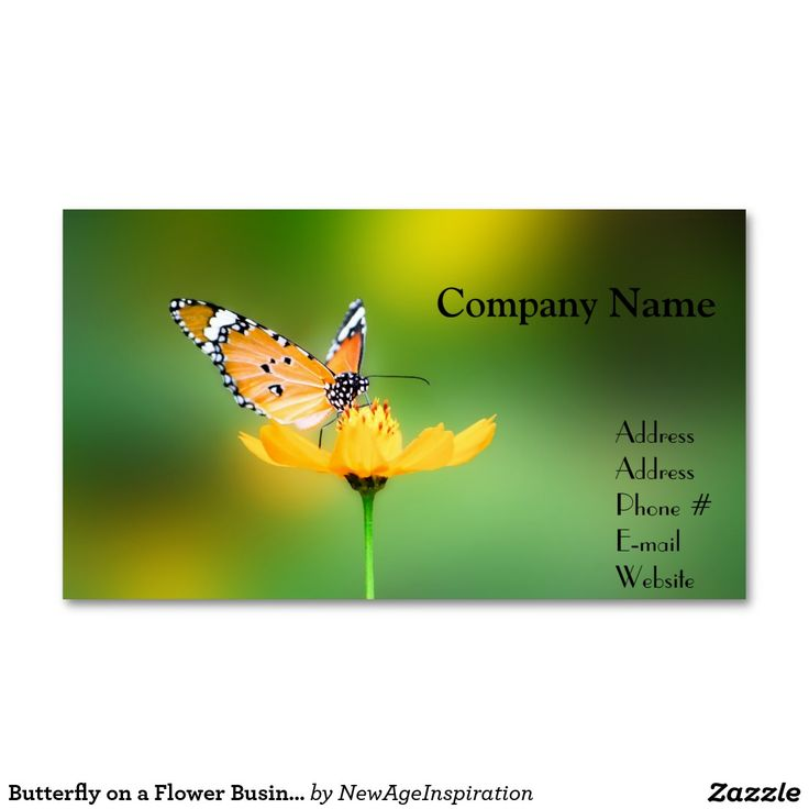 Butterfly on a Flower Business Cards