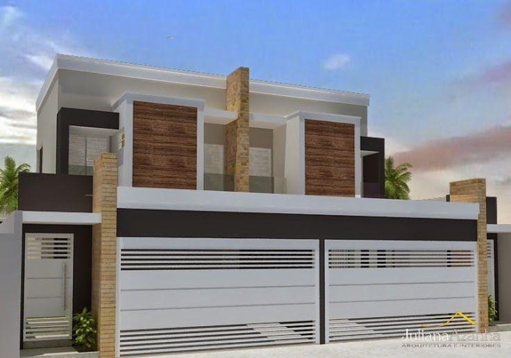 Modelo de portao fachada pinterest for Casas contemporaneas modernas