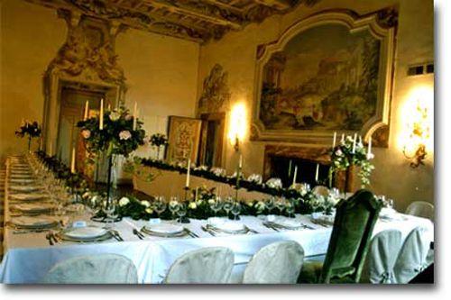 U shape table Castello di Meleto