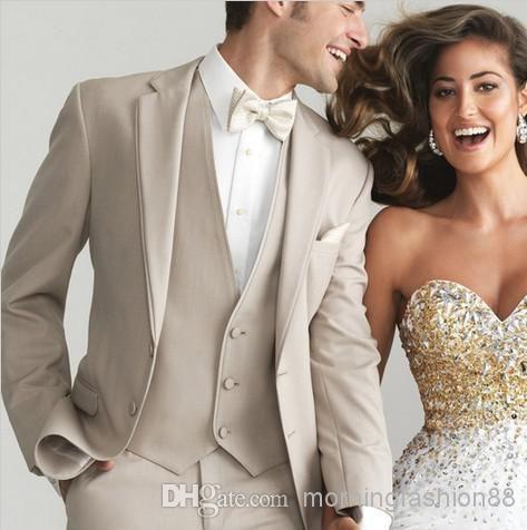 Morning Fashion88 Tailor Suist New 2014 Champagne tuxedo groom wedding suit groom wedding suits Luxury men jacket+waistcoat+trouser