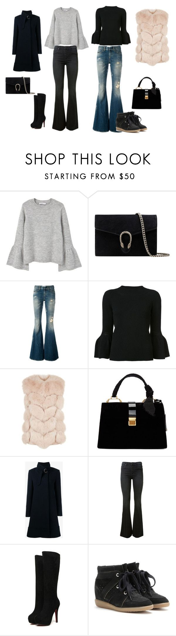 Untitled #2 by feliciamagelsen on Polyvore featuring MANGO, Carolina Herrera, Max & Moi, Chloé, Faith Connexion, Hudson, Isabel Marant, Miu Miu and Gucci
