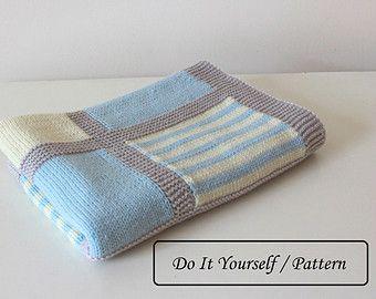 Knit baby blanket pattern / baby blanket pattern / baby blanket knitting pattern / knitting pattern for babies