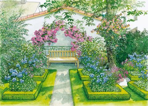 122 besten garten Bilder auf Pinterest Garten ideen, Sichtschutz - garten gestalten vorher nachher