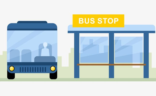 Vector Bus Station Bus Vector Bus Stop Vector Png And Vector