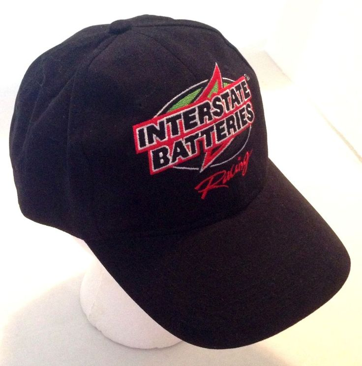 interstate batteries racing 18 baseball cap hat racing