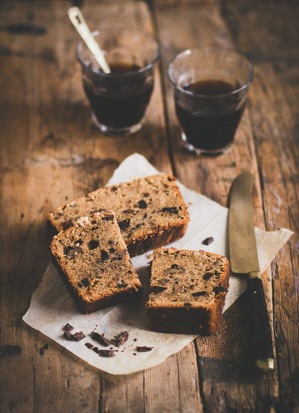 Moist and tender caffè espresso cake with delicious bits of pecans and dark chocolate.