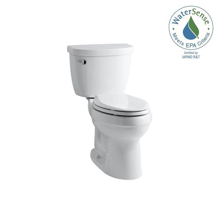 KOHLER Cimarron Comfort Height the Complete Solution 2-piece 1.28 GPF Single Flush Elongated Toilet in White