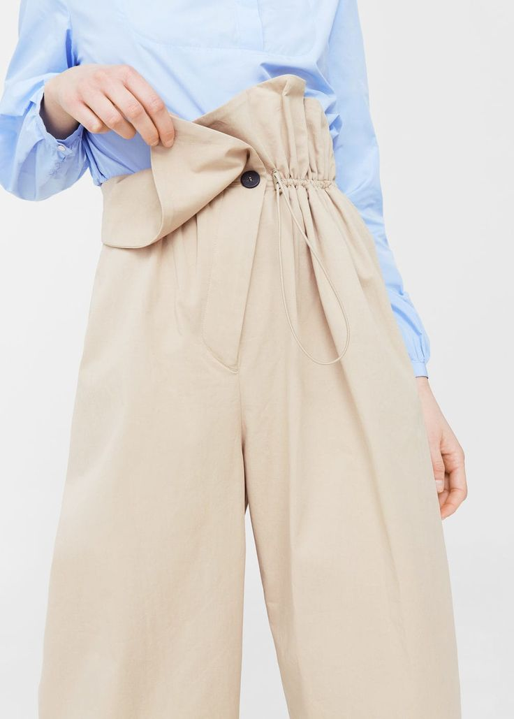 Adjustable waist trousers | MANGO