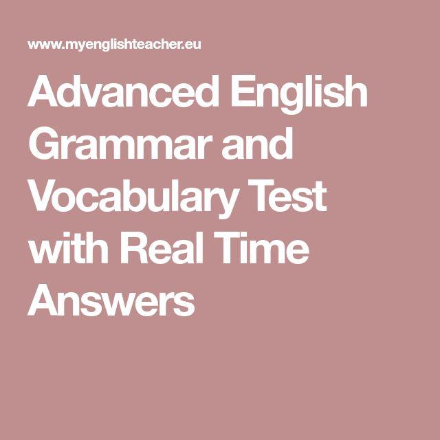 advanced english vocabulary test with answers pdf