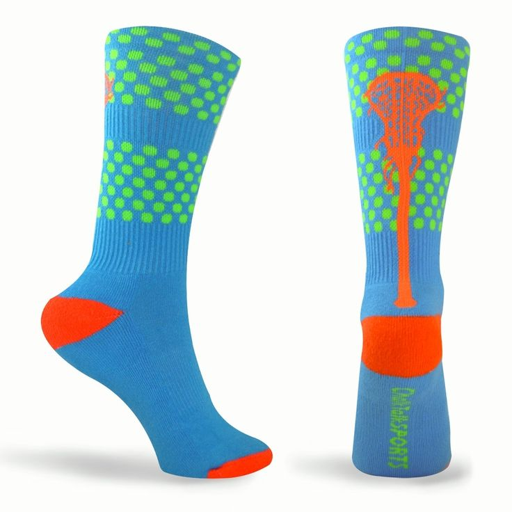 Tropic Neon Series Lacrosse Socks (Blue, Green, Orange) | Girls Lacrosse Socks