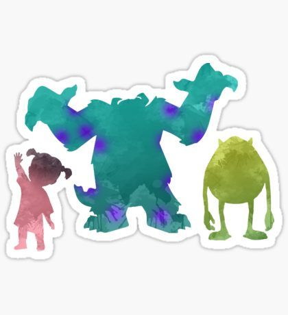 Pegatina Monsters and girl Inspired Silhouette