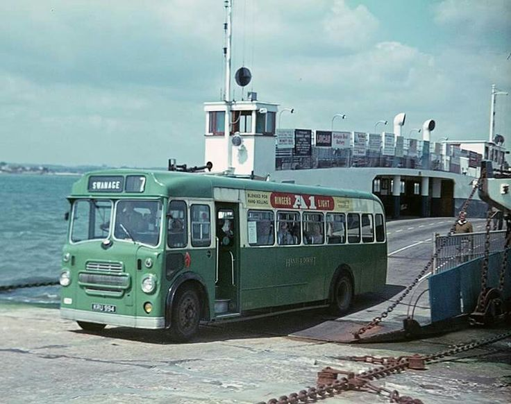 Bristol L disembarking from the chain ferry at Sandbanks in Poole, Dorset, UK.