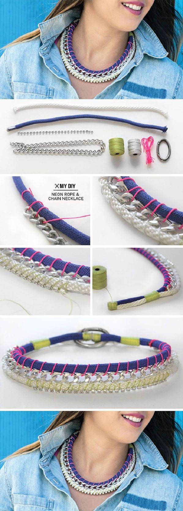 Do It Yourself Jewelry: DIY Beautiful Necklace Necklace Diy Diy Ideas Diy Crafts