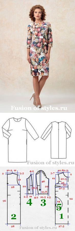 Женское платье прямого силуэта | Fusion of Styles