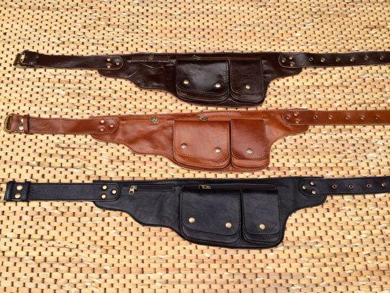 Cintura di cuoio / Hip Bag / Fanny Pack  di ThaiArtistCollective