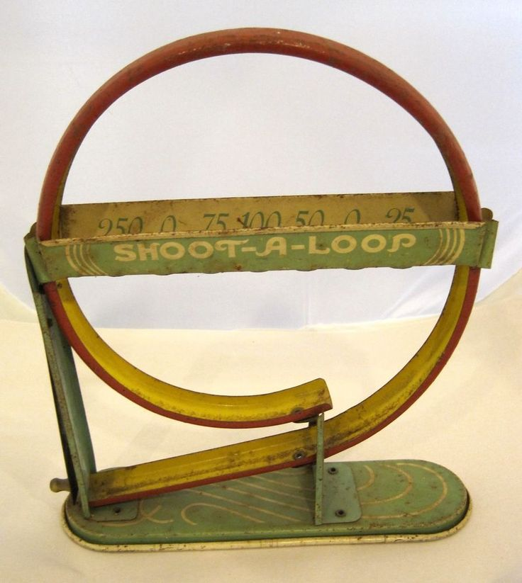 OLD Tin Litho Wolverine Supply Marble Shoot A Loop Game!  SHP