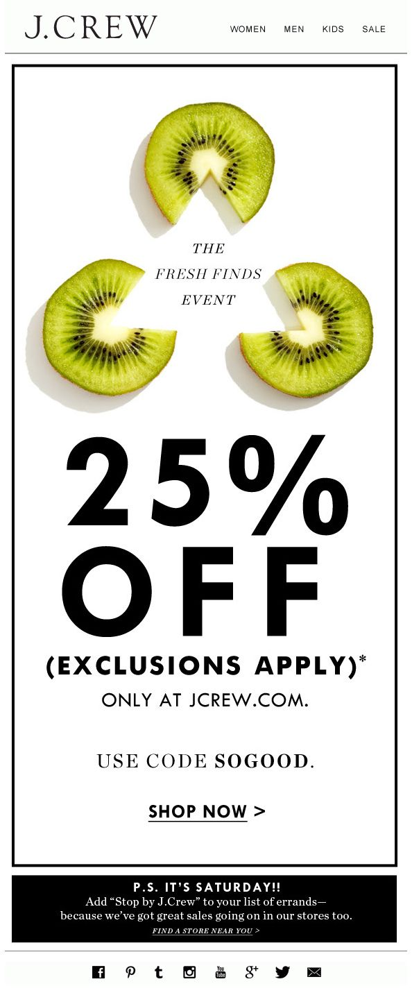 In this coupon, the discount percentage has the biggest text size, giving it hierarchy and making sure the eye finds the information immediately. the rest of the design is balanced by different sizes of text and the composition is kept simple agains a white background to make the text easy to read.