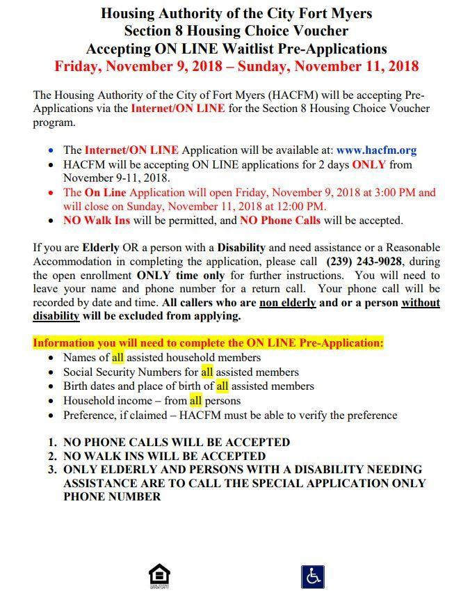 11-09-18 FLORIDA HOUSING ALERT! ENGLISH | SECTION 8 HOUSING