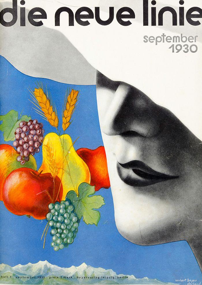 magazine die neue linie, 1930. Cover Herbert Bayer