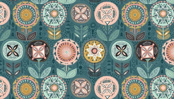 Patchwork anyag - Makower - Sophia 1541/T - Art-Export webáruház