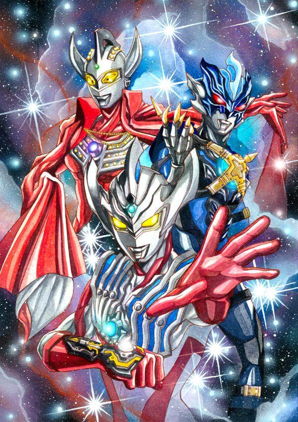 Pin oleh Lê Hoàng Hiếu di Ultraman Seni anime, Seni, Gambar