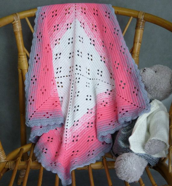 Hand Made crochet blanket, throw blanket, afgan, baby blanket, bebe blanket crochet, rainbow blanket