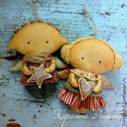 Ароматизированные куклы ручной работы. Ярмарка Мастеров - ручная работа Пряничные ангелочки. Handmade.