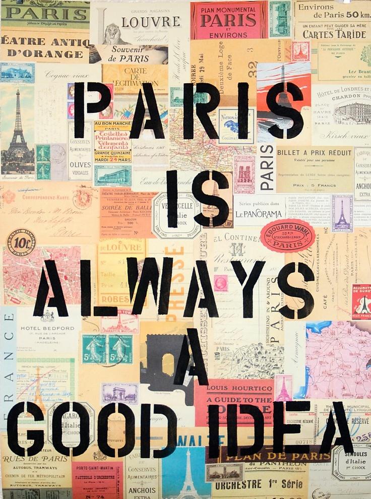 "Poster ""Paris is always a good idea"" Audrey Hepburn Poster. $16.00, via Etsy."