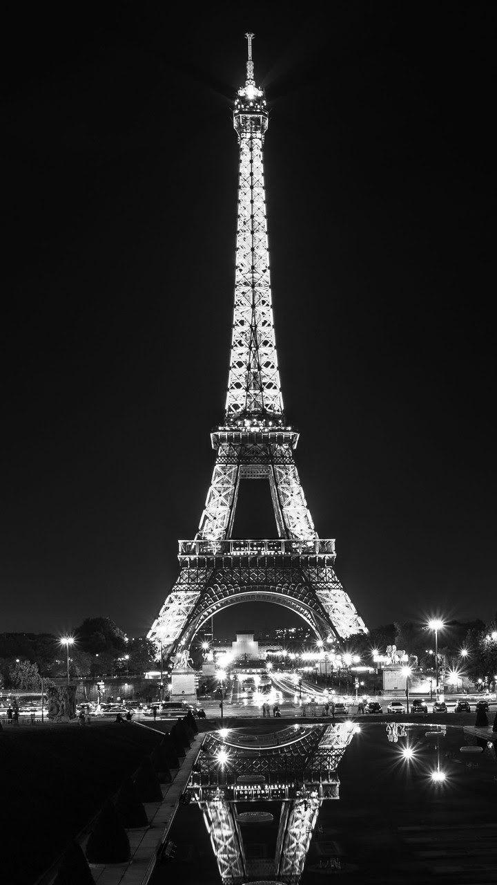Tour Eiffel Voyage Onirique Fond D Ecran Telephone Fond Ecran Paysage Tour Eiffel Noir Et Blanc