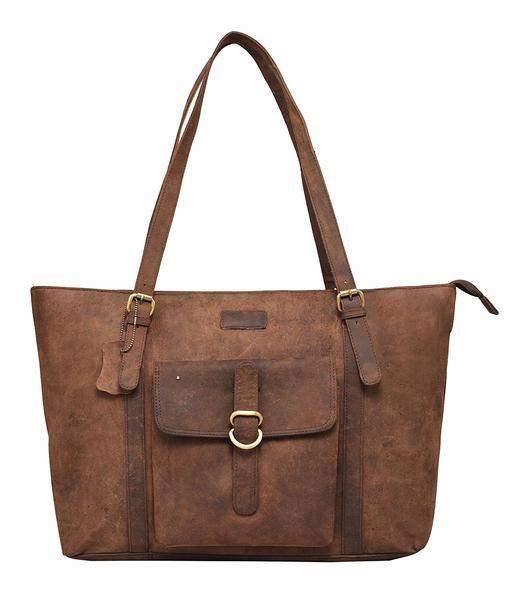 Vintage Leather Rose Bay Ladies Tote Bag