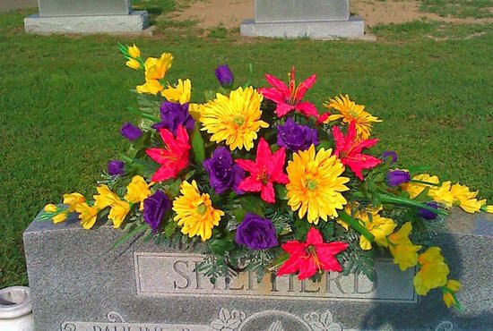 17 Best Images About Grave Stone Decoration On Pinterest Deco Mesh Yellow Roses And Spring