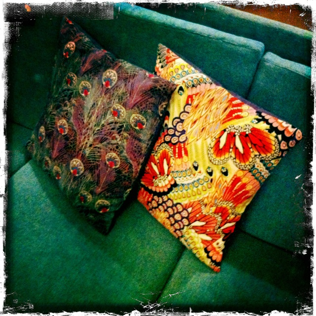 Two more pillows for the sofa.