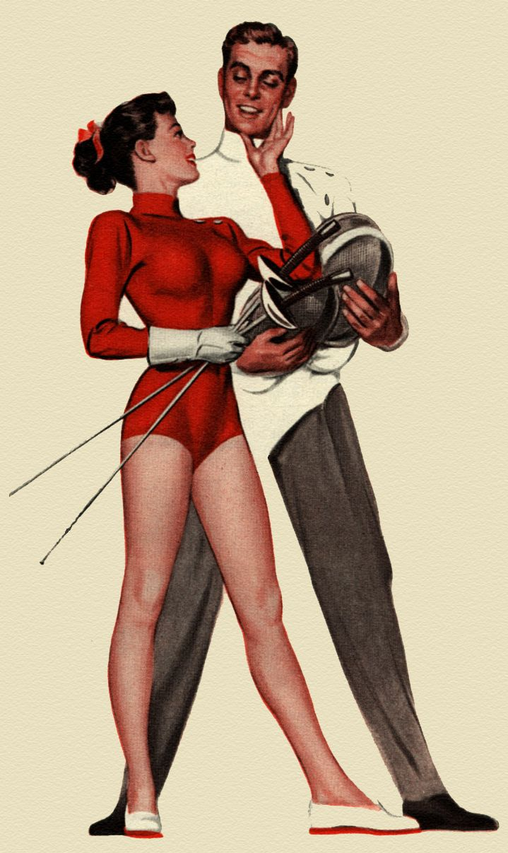 One more Barbasol! Fencing - detail from 1949 Barbasol Shave Cream ad…