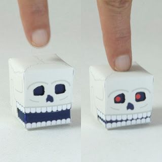 Paper skull automata - free printable for this easy moving model.