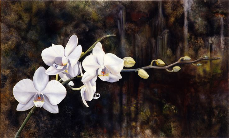 Orchids    Oil on Canvas   89cm x 55cm - ©2006, Matthew Bates, All Rights Reserved - Private Collection
