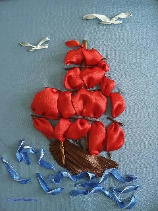 .barco de flores